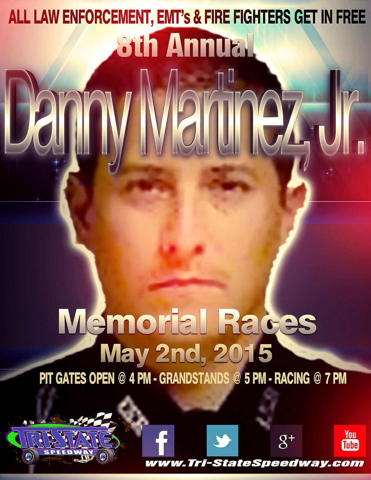 8th Annual Danny Martinez, Jr. Memorial Races and Law Enforcement, EMT and Firefighters Night