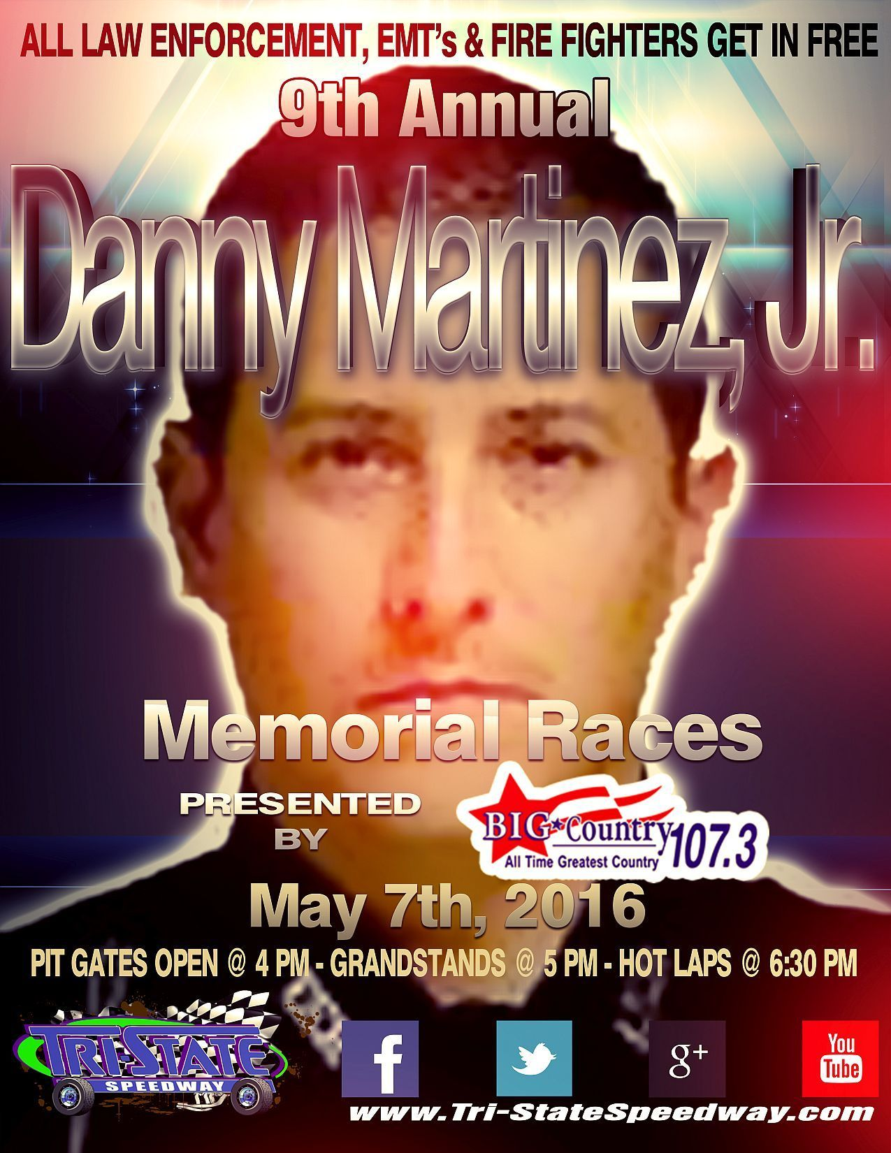 9th Annual Danny Martinez, Jr. Memorial Races and Law Enforcement, EMT and Firefighters Night