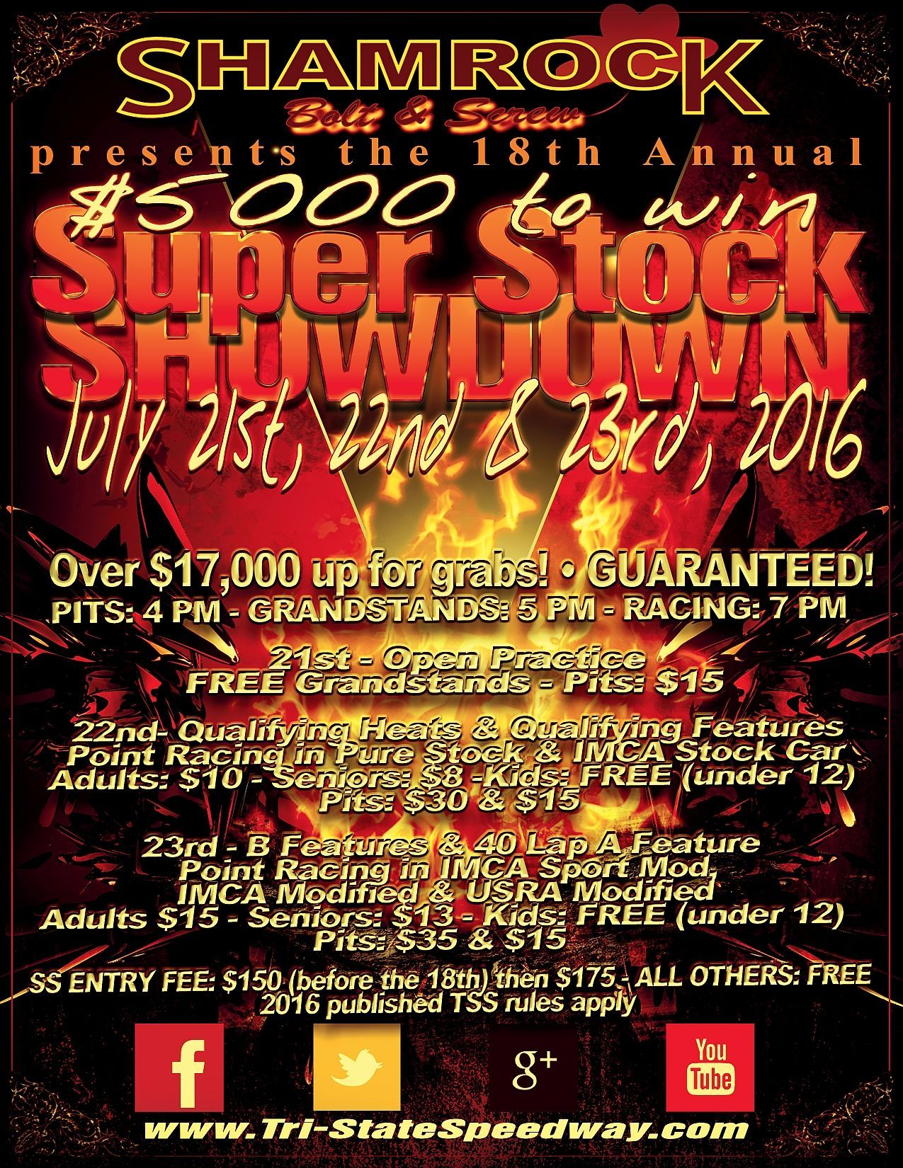 18th Annual $5,000 to Win Super Stock Showdown presented by Shamrock Bolt & Screw Company