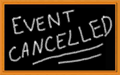 Races Cancelled for May 20th, 2017