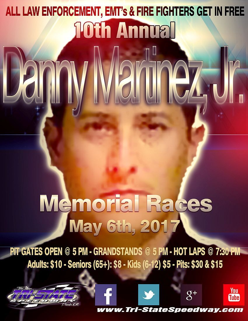 10th Annual Danny Martinez, Jr. Memorial Races and Law Enforcement, EMT and Firefighters Night