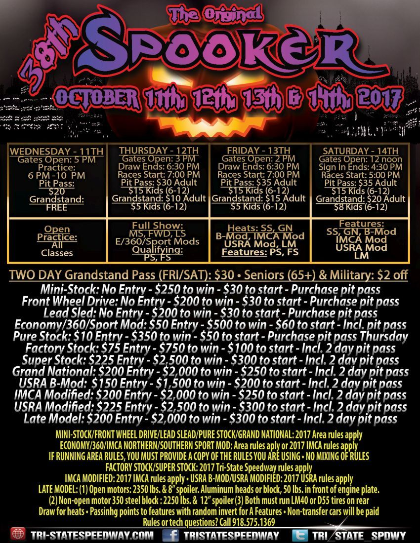 38th Annual Spooker (Flyer-back)