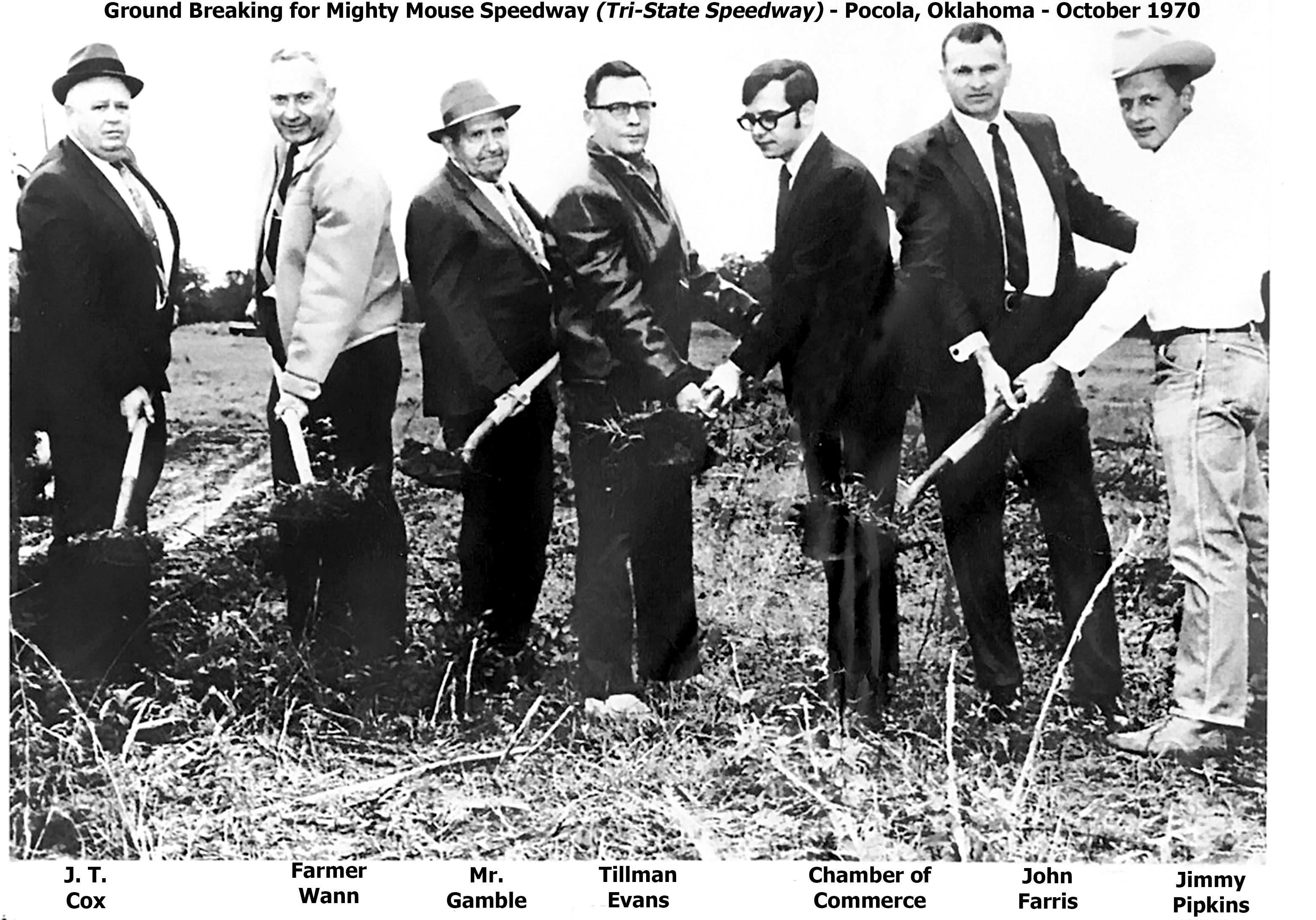 Groundbreaking for Mighty Mouse Speedway - October 1970