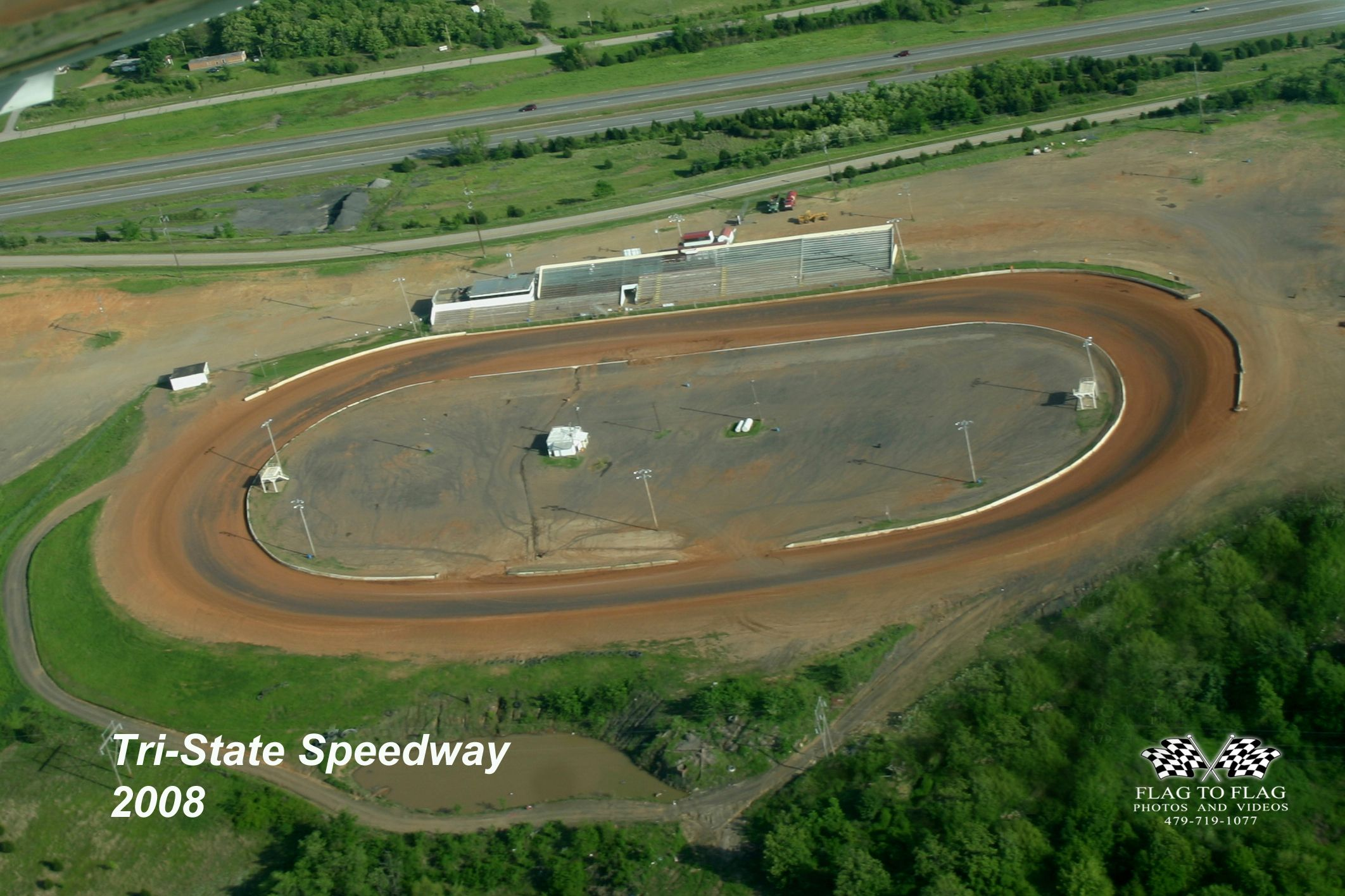 2008 aerial photo of Tri-State Speedway taken by Mary Gray